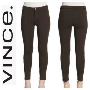 Vince Ponte Knit Riding Pants Leggings Dark Brown